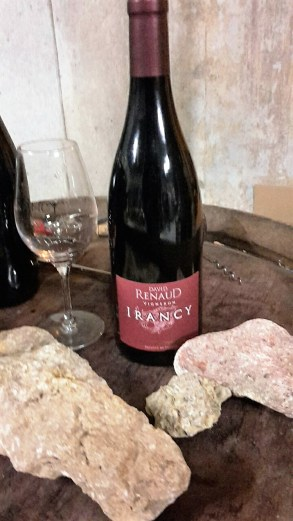 avid Renaud's classic Irancy with limestone rocks taken from nearby vineyards.