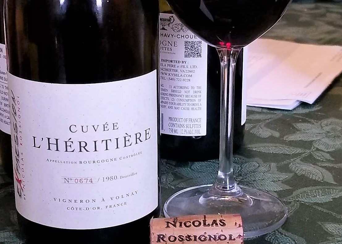 Wine of the Weekend: Nicolas Rossignol's 2015 Bourgogne Rouge L'Héritière