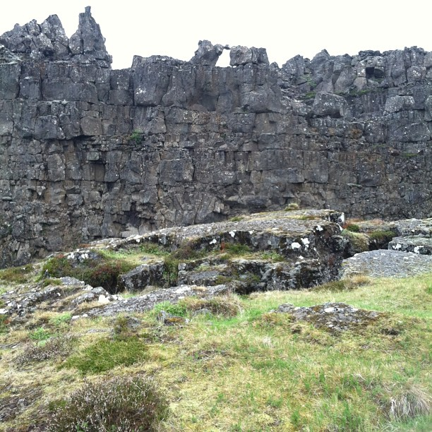 "Löberg aka ""The law rock"" at Thingvellir where for three centuries laws of the Icelandic Commonwealth were proclaimed #iceland #latergram"