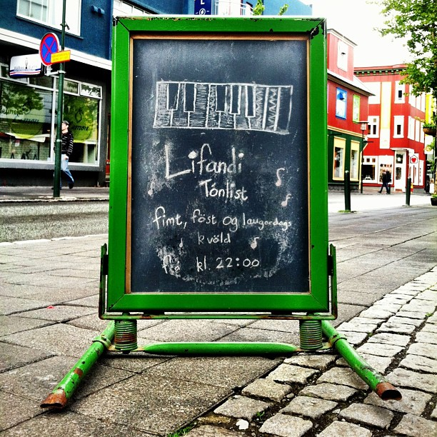 Chalk signs, #Iceland edition. #latergram
