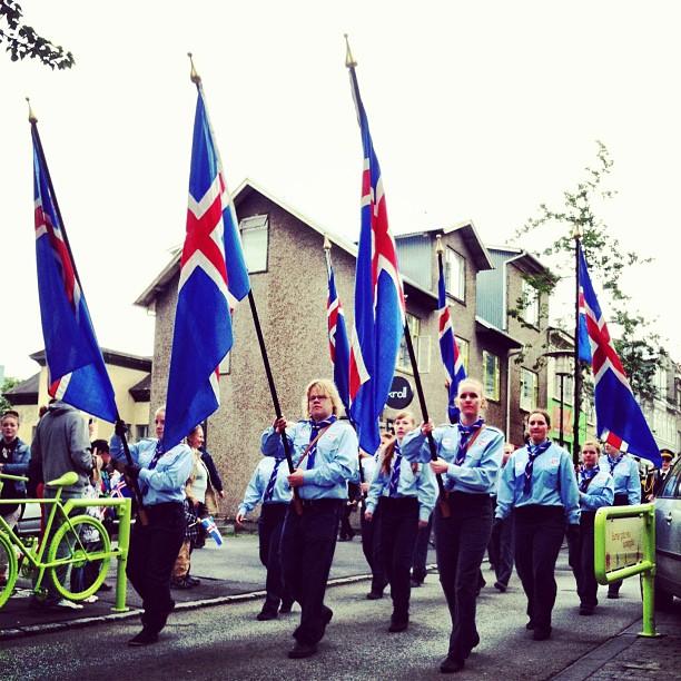 Happy 69th Birthday, #Iceland! Yesterday's parade.