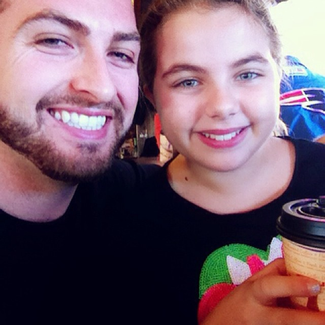"""Saturday coffee and co-writing date with Giana. She's working on her first novel called """"The Glitter Gals."""" @misslaurenmichele"""