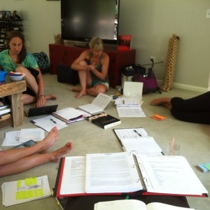 Teacher training study group on a gorgeous summer solstice!