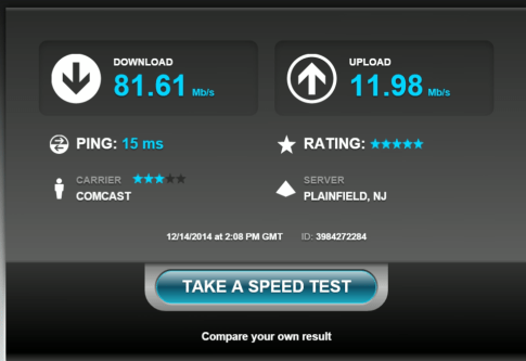 Speedtest Comcast