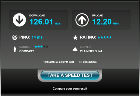 Speedtest nighthawk