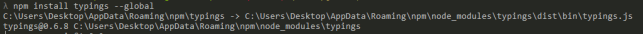 # Install Typings CLI utility. npm install typings --global