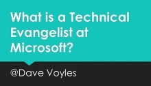 What is a Technical Evangelist at Microsoft