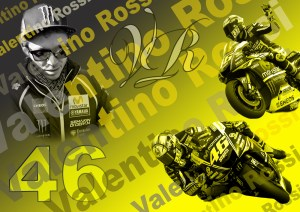 Valentino Rossi. Limited Edition Print 1-46