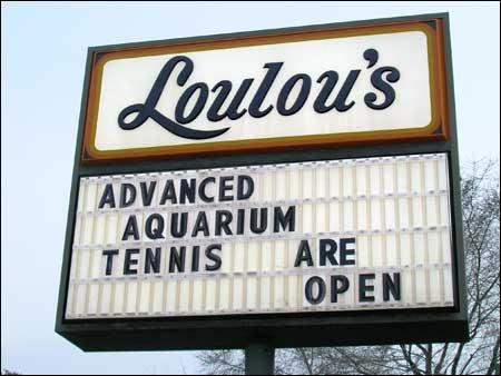 Advanced Aquarium Tennis