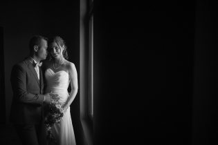 zwart op wit huwelijksfotograaf