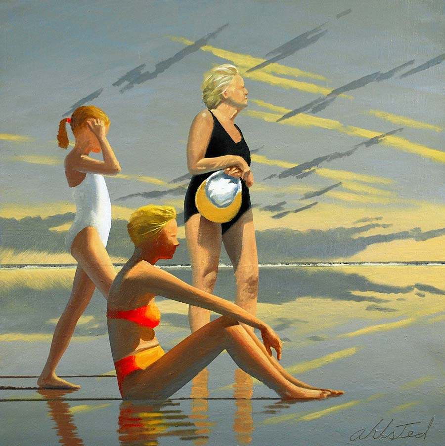 """David Ahlsted - """"Jersey Shore # 15"""", Oil on Canvas, 28 x 28"""""""