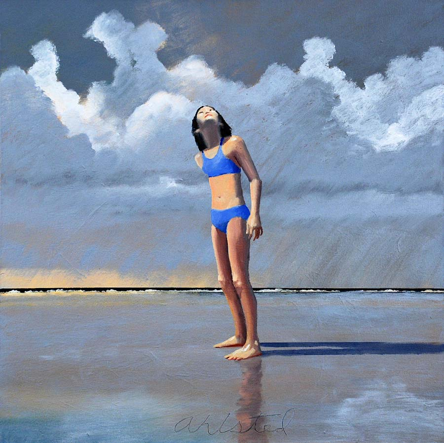 """David Ahlsted - """"Jersey Shore # 8"""", Oil on Canvas, 24 x 24"""""""