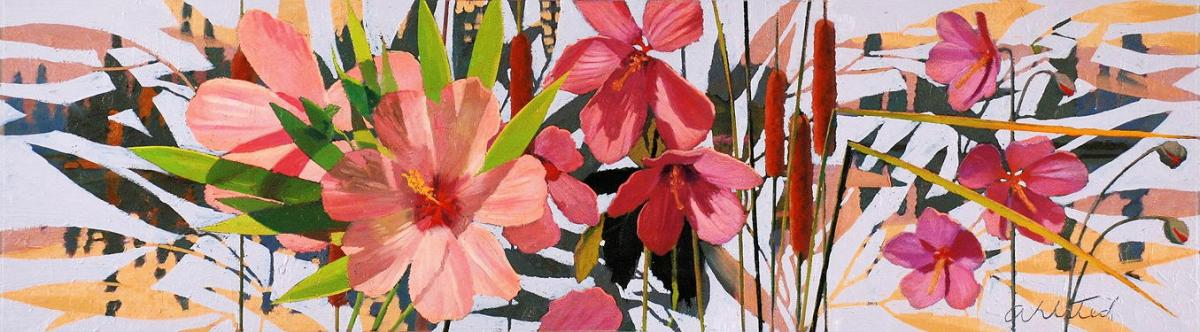 """David Ahlsted - """"Midsummer"""", Oil on Board, 10 x 36"""""""