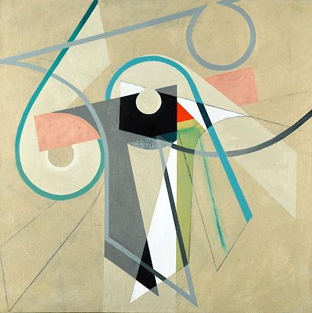 """Rotation II"", oil on canvas, 36 x 36""."
