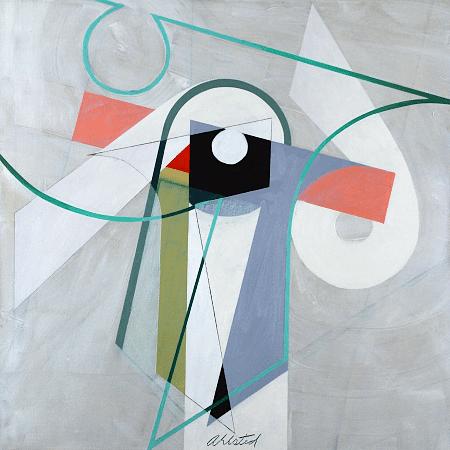 """Rotation III"", oil on canvas, 36 x 36""."