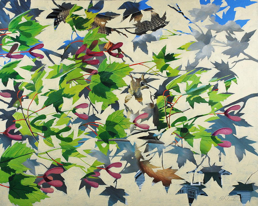 """David Ahlsted - """"Squirrels Tale"""", Oil on Canvas, 48 x 60"""""""