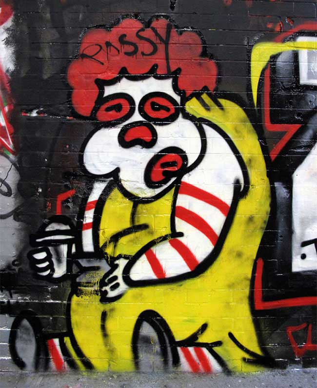 Fat Ronal McDonald graffiti