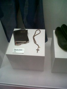 Kim Dae Jung Library - his prison Bible and Rosary