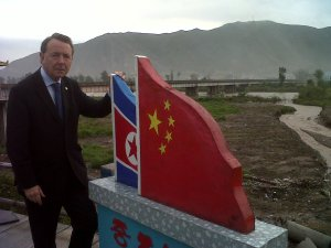 At the Tumen River border with North Korea in North East China, September 2012, where border guards shoot North Koreans trying to leave their country