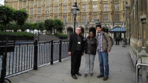 Mgr Héctor Fabio Henao, director of CAFOD's Colombia partner SNPS, came to the UK with two Colombian community leaders. Mélida Guevara and Jesús Alberto Castilla, whose communities have been torn apart by 50 years of internal conflict, visited the UK to tell the government and CAFOD supporters what they can do to help.