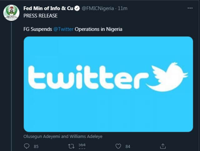 Nigerian Government's Twitter Ban – President Buhari should try banning corruption, abductions, and Jihadism instead.