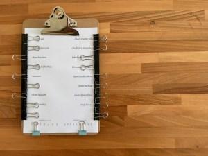 reusable pen free checklist binder clips