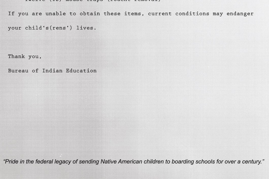 David Bernie BIA School Supplies Indian Country 52 Week 43