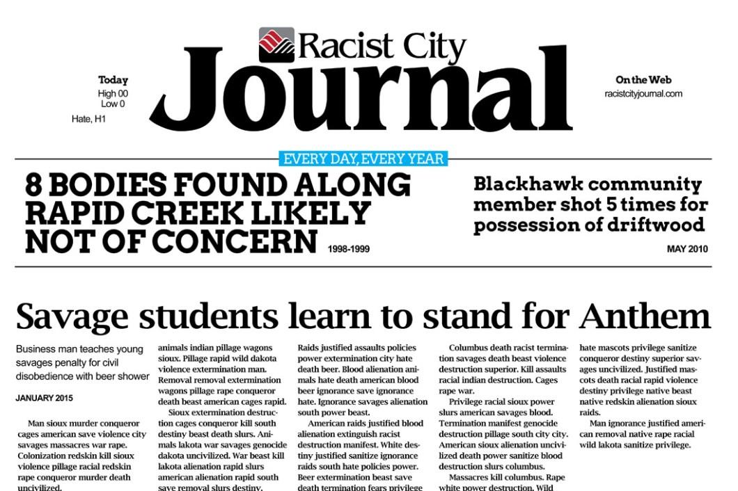 David Bernie Racist City South Dakota Indian Country 52 Week 4