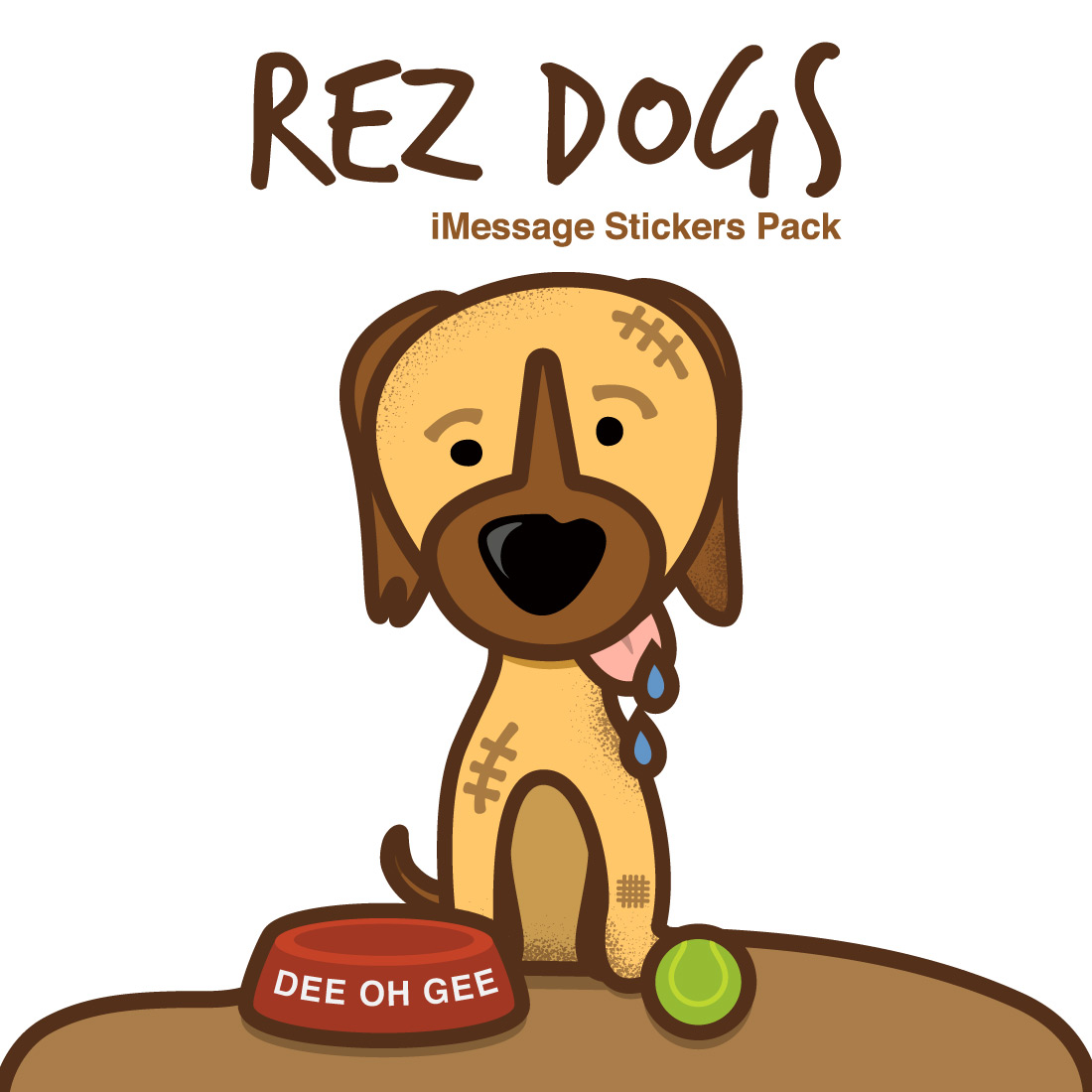 David Bernie Rez Dogs iMessage Stickers App iOS