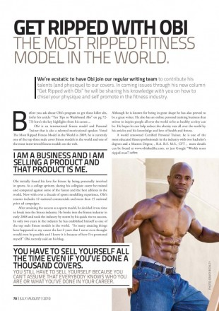 Obi Obadike in Ultra-Fit Australia, Photographed by David Bickley