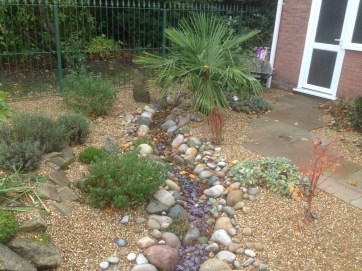 Dry river bed and gravel