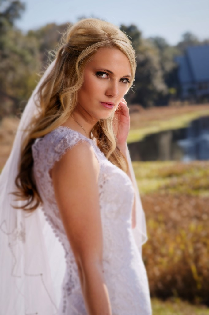 Megan Crews bridal portraits at Camp Weed in Lake City, Florida.  February 14th, 2014. Photo by David Bowie Photography
