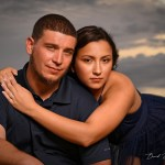 Alicia and Greg;s engagement portraits in Cedar Key, Florida.  May 24th, 2020. Photo by David Bowie Photography