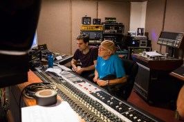 """David at the production controls for """"No Money Down"""""""