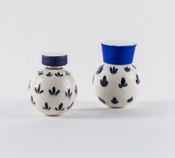 Ceramic 16 Two Small Blue Bottles