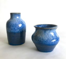 Ceramic 27 Two Blue Vases