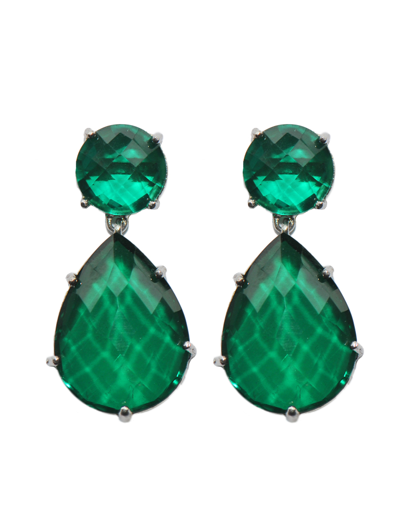 Holiday Jewelry Trends - Green Quartz Earrings