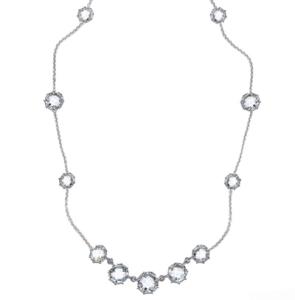 Anzie Collection: Mélia Necklace – Clear Topaz & Silver
