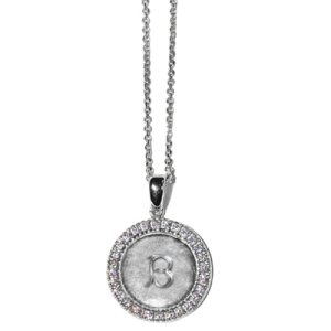Anzie Silver Initial Necklace - Letter B