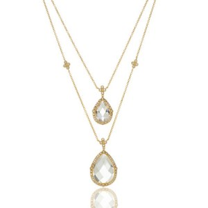 Freida Rothman Luxure Double Teardrop Layer Necklace
