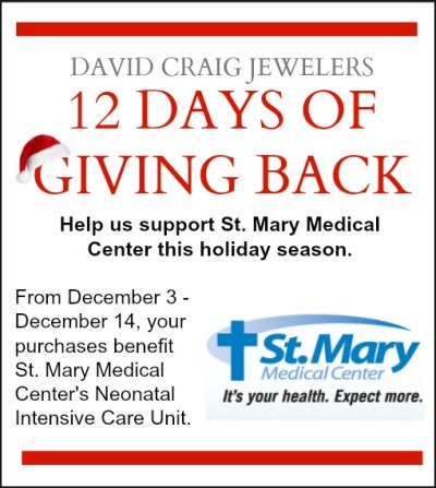 12 Days of Giving Back Charity for St. Mary Medical Center