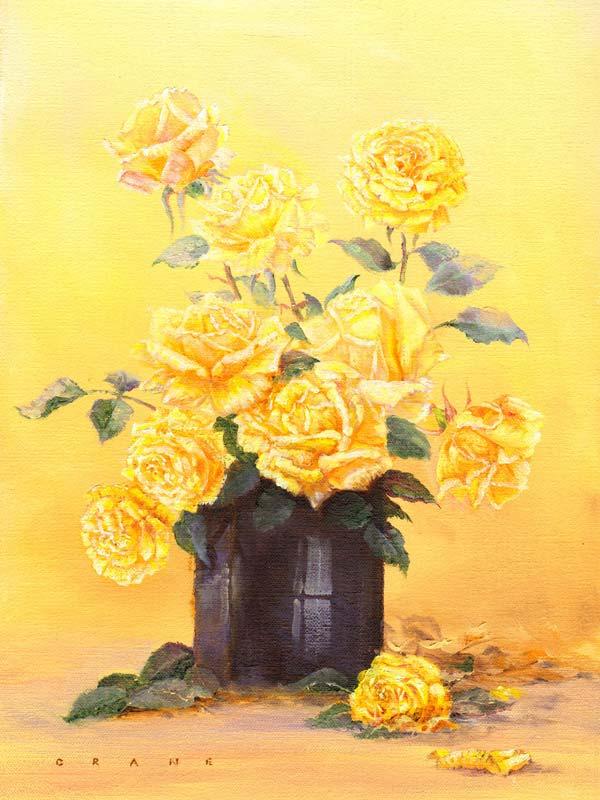Flower Paintings Gallery by artist David Crane