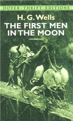 Cover of the book 'First Men in The Moon' by H G Wells