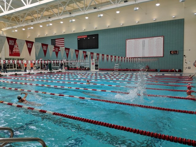 The aquatics center