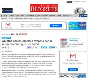 Redmond Reporter Article 12-5-2014