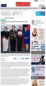 Redmond Reporter Article 2015