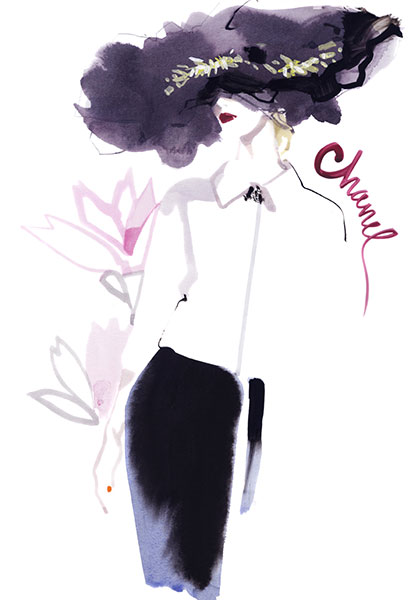Couture   David Downton 2015  Chanel Couture  2015