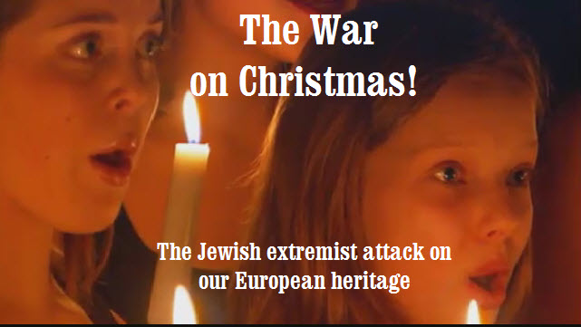 Image result for jew wage war against christmas