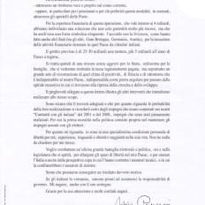 Parte B della lettera