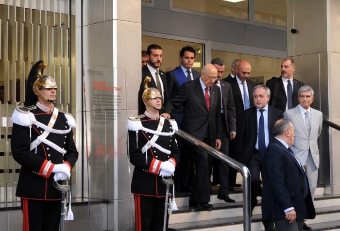 Giorgio Napolitano inaugura la sede di Scienze Politiche a Bari